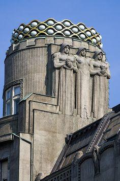 Art Nouveau on Wenceslas Square, Prague | Flickr - Photo Sharing!