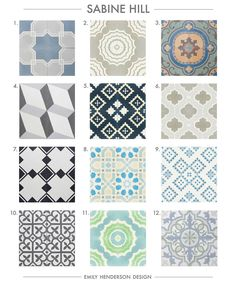 Where To Buy Cement Tiles (Emily Henderson) | Cement, Bath and Kitchens