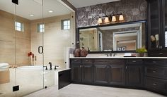 Storage in the master bath can help keep clutter to a minimum. | Harmon model home in Aurora, CO | http://www.richmondamerican.com/Colorado/Denver-Metro-new-homes/Aurora/The-Estates-at-Blackstone-Country-Club/Harmon/?taa=HB&td=Pinterest&ls=Online&cmpid=PINTEREST