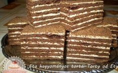 Nagyon egyszerű, bevált Marlenka recept Torte Cake, Cake Bars, Cookie Recipes, Dessert Recipes, Salty Snacks, Hungarian Recipes, Sweets Cake, Food Humor, Healthy Sweets
