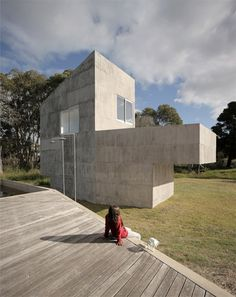 Argentinian studio Adamo-Faiden has designed a group of concrete summer houses called Sociedad de Mar for a patch of forest on the coast of Uruguay.