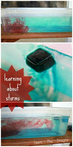Make convection current and learning about thunderstorms with this hands on experiment for kids!