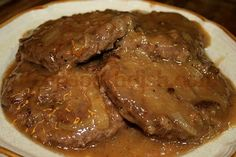 Deep South Dish: Hamburger Steak with Creamy Onion Gravy...something that may entice my elderly parents to eat