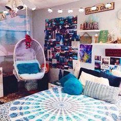Bohemian, bedroom mandela blue