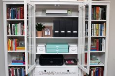 Small Combined Dining Room and Office, IKEA Hemnes, Office Organization| BeautifullyUncluttered.com