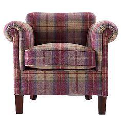 John Lewis tartan chair - want softer colours.