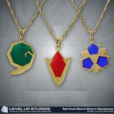 #Zelda: Spiritual Stones Necklaces by Level Up Studios ($12.99)