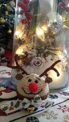 cupcake segnaposto Rudolf