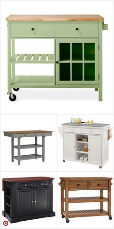 Easy And Workable Rolling Kitchen Island Ideas - When you talked about modern kitchen then you cannot miss out Kitchen Island as it will not only add - Budget Kitchen Remodel, Kitchen On A Budget, New Kitchen, Kitchen Decor, Ranch Kitchen, Kitchen Ideas, Kitchen Island Ikea Hack, Rolling Kitchen Island, Kitchen Islands