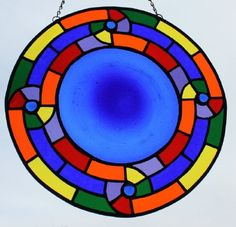 STAINED GLASS MANDALA  Rainbow and Rondel by SunflowerGlassworks