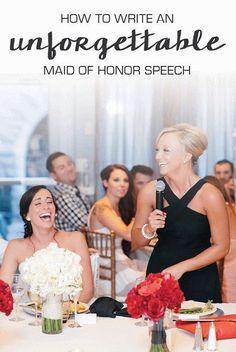 writing maid of honor speech