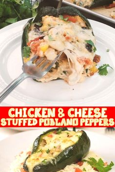 Low Carb Recipes, Cooking Recipes, Healthy Recipes, Appetizer Recipes, Dinner Recipes, Poblano Chicken, Pepper Chicken, Comida Keto, Stuffed Poblano Peppers