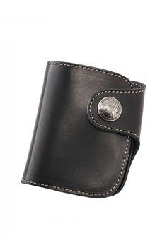 REDMOON HR-01A-MID Leather Short Wallet BK(Black)