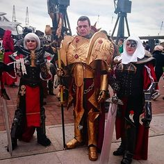 allthingswarhammer:  Description: Custodes and Sisters of Battle searching out heresy at MCM comicon this weekend #adeptuscustodes #legiocustodes #sistersofbattle #warhammer30k #warhammer40k #warhammer #cosplay #gamesworkshop #mcmcomicon #costume #armour Author: mruntidy on Instagram Source: http://gbp24.me/ZTBQeF Date: October 27, 2014 at 05:32PM