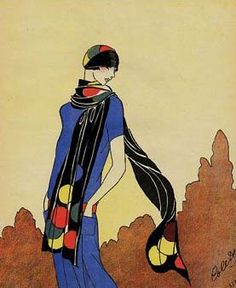 20's | Long scarves were very popular