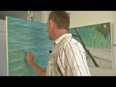 Acrylic Painting Techniques - Glazing - How to Paint Water - YouTube