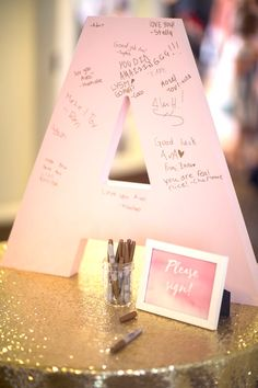 Signature letter from a Pretty in Pink Bat Mitzvah Birthday Party on Kara's Party Ideas | KarasPartyIdeas.com (15)