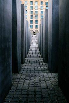 Holocaust Memorial in Berlin. Berlin Photography, Line Photography, Perspective Photography, Urban Photography, Creative Photography, Digital Photography, Street Photography, Berlin Travel, One Point Perspective