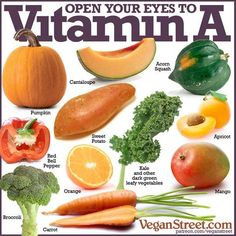 What are some good foods for healthy eyes, skin, bones, immune system, cell generation and reproductive health? All this ... Vitamin A @plantpowerz