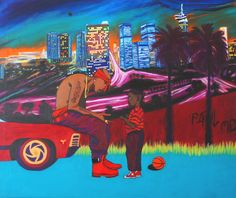 Tupac & Kendrick Lamar oil painting 'California Love' California Love, Kendrick Lamar, Dance Art, Black Art, A3, Oil On Canvas, Goats, College, Posters