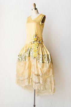 Vintage 1920s silk floral dress.