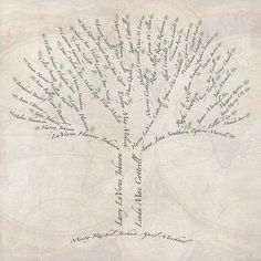 Custom Family Tree using your own family history - $40 - email the shop owner for a .psd template for $5 if you have a working knowledge of photoshop. (text manipulation, free transform, layers, linking, etc)