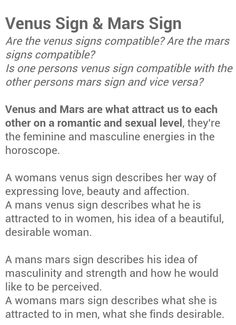 what is your venus sign