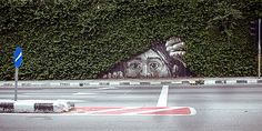 Street art and nature don't usually intersect, especially in large cities where most graffiti and tagging can be found. These gorgeous images are the exception — a beautiful melding of street art and urban flora. 3d Street Art, Street Art Utopia, Urban Street Art, Best Street Art, Amazing Street Art, Street Art Graffiti, Street Artists, Urban Art, Amazing Art