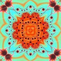 Ceramic decals, kaleidoscope, 750-850ºC, fusible transfers, image transfers, decals for enameling, decals hot glass, fractal decals, fractal door StainedGlassElements op Etsy