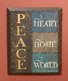 Peace Inspirational Wall Notes | LTD Commodities