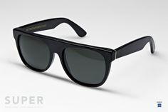 SUPER Flat Top Leather Black