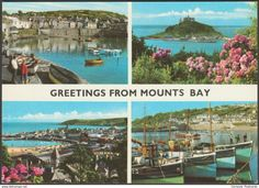 Multiview, Greetings From Mount's Bay, Cornwall, c.1980 - John Hinde Postcard