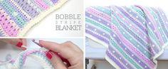 Bobble Stripe Blanket Tutorial