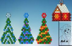 Схемы: К новому году)) Xmas tree, new year brick stitch                                                                                                                                                      More