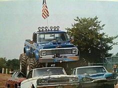 Lifted Trucks Bigger Than A Monster , Cooler Than You Think, Out-And-Out! Lifted Trucks Bigger Than Godzilla, They 4x4 Trucks, Lifted Trucks, Chevy Trucks, Big Monster Trucks, Monster Mud, 4x4 Off Road, Love Car, Yesterday And Today, Godzilla