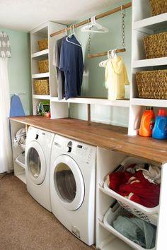 Small basement remodel diy sinks 66 ideas for 2019 Small Closet Organization, Closet Shelves, Laundry Room Organization, Laundry Room Design, Laundry Rooms, Organization Ideas, Storage Shelves, Laundry Shelves, Shelving Ideas