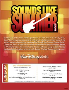 The Sounds Like Summer concert series returns to Epcot this summer! From June 7 to July 25, the America Gardens Theater will once again rock out with some of the world's hottest tribute bands. Here's this year's lineup!