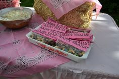 trail mix...easy and cute; wish we were having another cowgirl party!