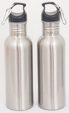 Water Bottle Value Pack of Two Stainless Steel Bottles with Carabiner and Twist Tight Cap from Vibz Enterprise, a Hygienic, Durable and Eco-friendly Hydration Source for Sports and Outdoor Activities Vibz Enterprise http://www.amazon.com/dp/B01BYUCYI0/ref=cm_sw_r_pi_dp_tUK9wb1BFWREX