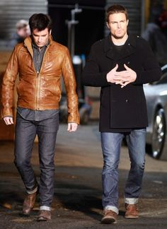 Oliver Queen and Tommy Merlyn on Arrow
