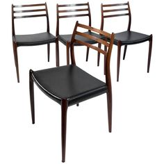 Exclusive Danish Rosewood Chairs 'Model 78' Designed by Niels Otto Møller, 1960 | 1stdibs.com