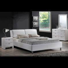 Pat tapitat alb Mito #paturi #mobila #mobiladormitor #dormitoare #dormitoarealbe #DecoStores #beds #bedrooms #whitebedrooms