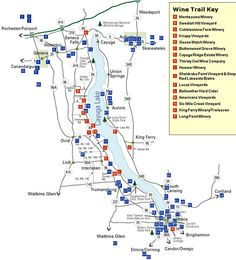 Welcome to the Finger Lakes - Winery Map-- my all time favorite ...