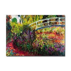 The Japanese Bridge Oil Painting by Claude Monet Wooden Wall Art, Framed Wall Art, Framed Art Prints, Monet Paintings, Landscape Paintings, Famous Art, Online Painting, Claude Monet, Art Pictures