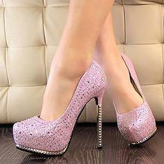 Sparkling Glitter Women's Stiletto Heels Platform Pumps/Heels Shoes(More Colors) - USD $ 39.99