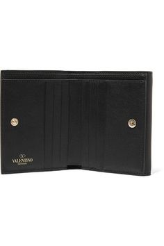 Valentino - The Rockstud French Leather Wallet - Black - one size