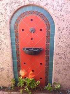 Wall fountains, Mexican tiles and Tile on Pinterest