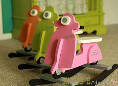 DIY scooter rocking horse. This is so going in my future kids' rooms until they're old enough for a Metrolpolitan!