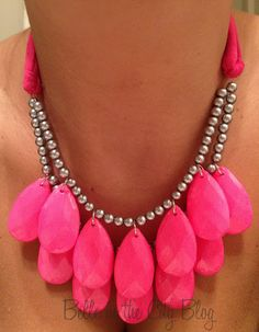 Belle in the City: DIY Painted Crystal  Necklace. Pretty amazing how simple it this is to make. WOW!!!! *