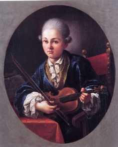 Little Mozart with his violin